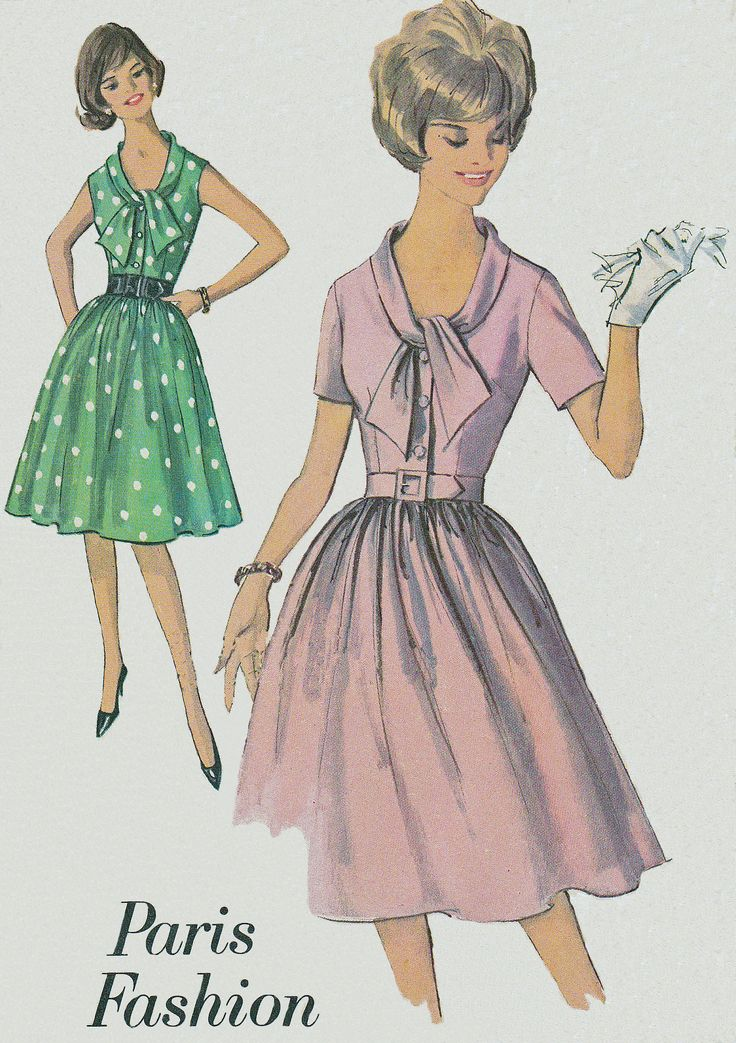 44 best Vintage Sewing Pattern Illustrations images on Pinterest ...