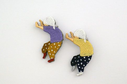 Created by freelance designer Junichi Chiba, the embroidered brooches: http://www.kiip.jp/index.html