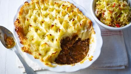 Roux family shepherd's pie with stir-fried cabbage recipe from Chef Michel Roux Jr.