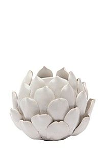 CERAMIC LOTUS SHAPE TEALIGHT HOLDER
