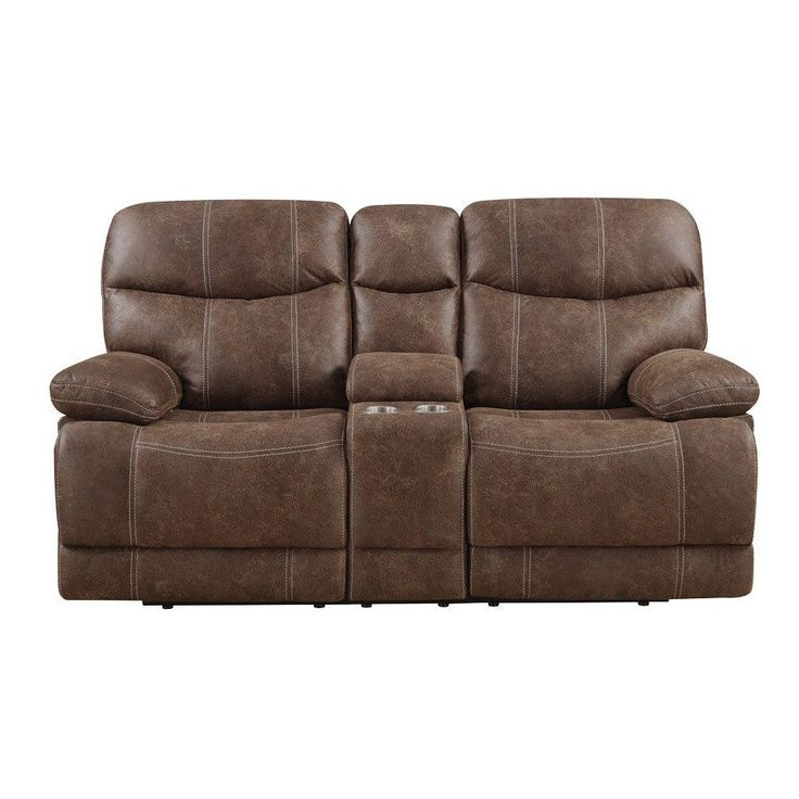 Emerald Sanded Brown Microfiber Dual Reclining Loveseat with Console (Brown Microfiber Dual Reclining Love with  sc 1 st  Pinterest & Best 25+ Dual reclining loveseat ideas on Pinterest | Leather ... islam-shia.org