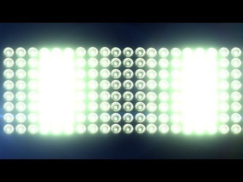 Big Horizontal Flashing Floodlights With Lens Flare - free HD vfx footage