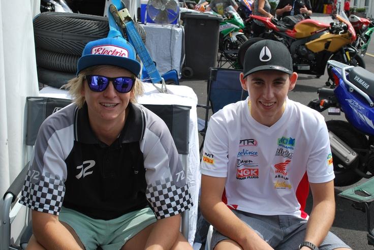 Brad Shaw and Matt Davies old friends since UK days in 2010. Good luck to Matt for 2013 season in SBK Supersport 600. Go Matt!!!!
