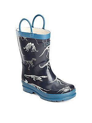 Hatley Toddler's & Little Boy's Dino Bones Rain Boots