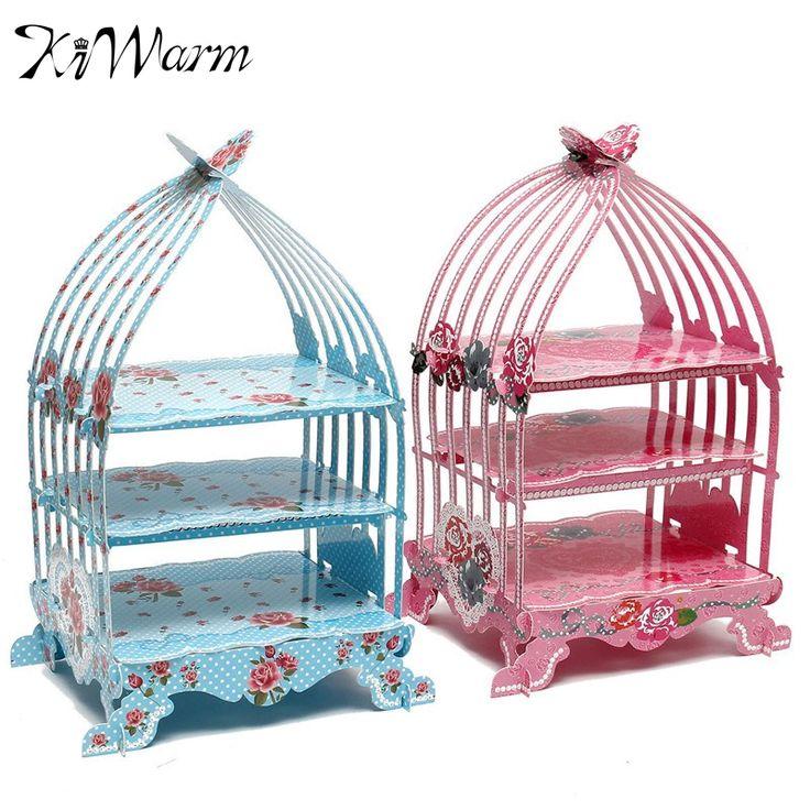 1 pc. 3 Tier Bird Cage Cardboard Cupcake Stand