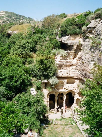Besikli Megara. Catacomb tombs near Antioch, Turkey.