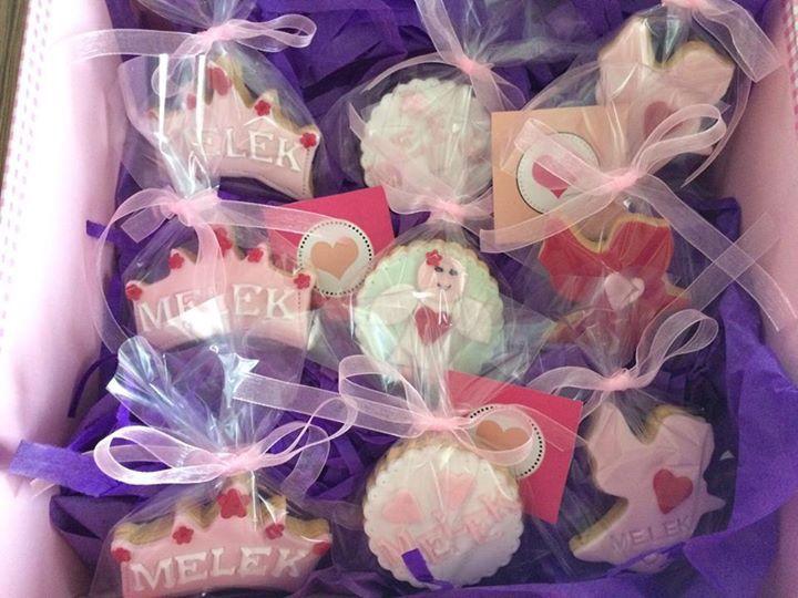 Kız Bebek kurabiyeleri - cookies for baby girl