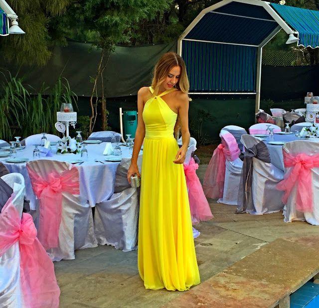 TUGCE GORGULU: Milla by Trendyol : Sarı Elbise