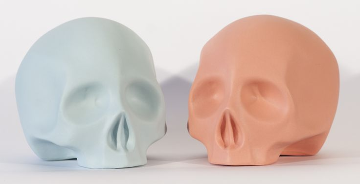 Skull - matte porcelain