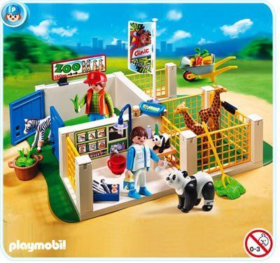 Playmobil 4009 - SUPERSET - Animal Care Station by Playmobil. $29.99. Manufacturer Age Recommendation: 4+ Years. Set also includes two figures, adult and baby panda, baby zebra, two giraffes, wheelbarrow, food, and other accessories.. Playmobil - Super Set - Animal Care Station  Care for the wild animals with the Super Set Animal Care Station. Equipped with animal pens, medical charts, x-ray, cast and bandages, this set has everything children need to practice their...