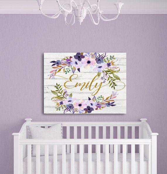 Lavender Nursery Wall Decor Rustic Fl