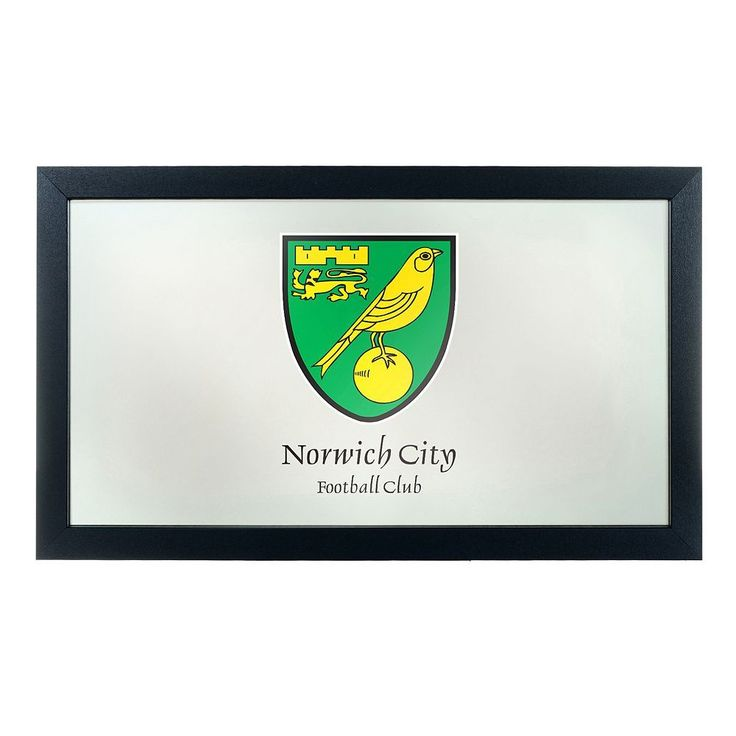 Norwich City FC Framed Mirror, Green