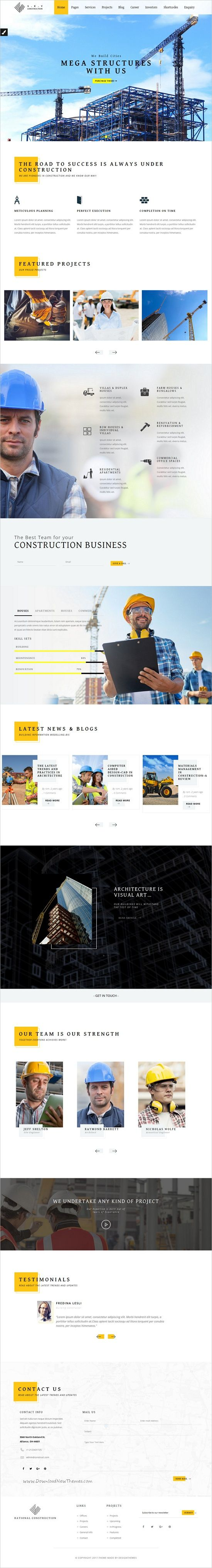 Construction is an stunning 2in1 responsive #WordPress theme for #engineering companies, architects, #building companies, independent builders, interior designers, plumbers, electricians as well as painters websites download now➩ https://themeforest.net/item/construction-a-theme-for-architects-and-builders/19269264?ref=Datasata