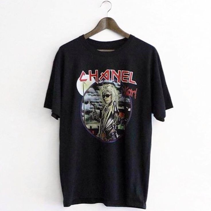 Chanel x Iron Maiden (Karl Lagerfeld/Eddie) parody T shirt. Fits slim.