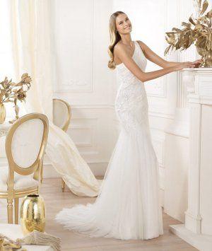 Pronovias Wedding Dresses 2014 Lacan, organza lace wedding dress by Pronovias!