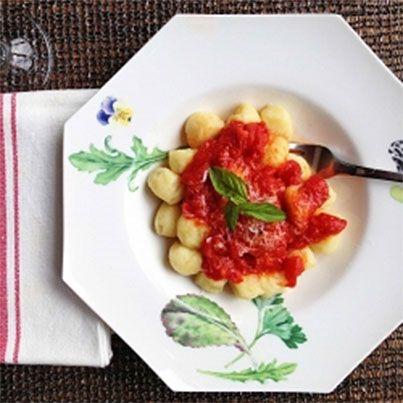 Potato Gnocchi with a Simple Tomato Basil Sauce