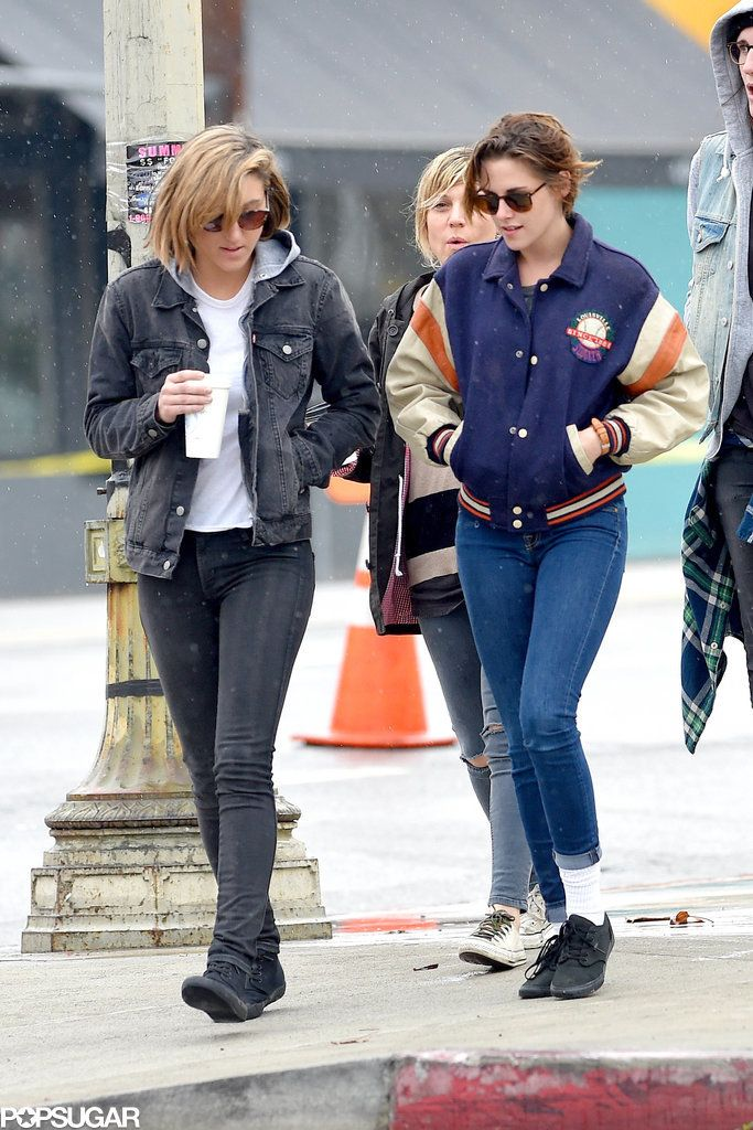 Kristen Stewart and Alicia Cargile Brave the Rain For a Day With Pals
