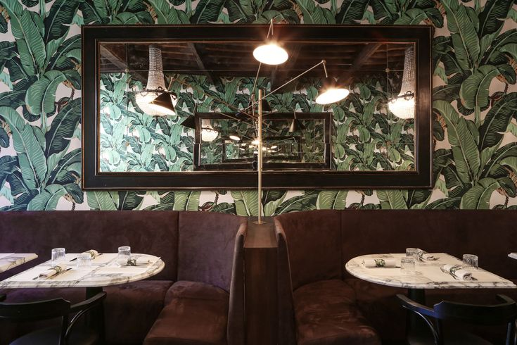 PLATZ restaurant rome 2015  Martinique wallpaper   banana leaf
