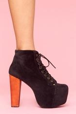 Lita Platform Boot - Black Velvet