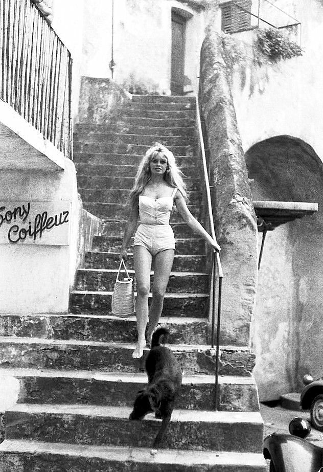 Brigitte Bardot photographed by Willy Rizzo in St. Tropez, 1958