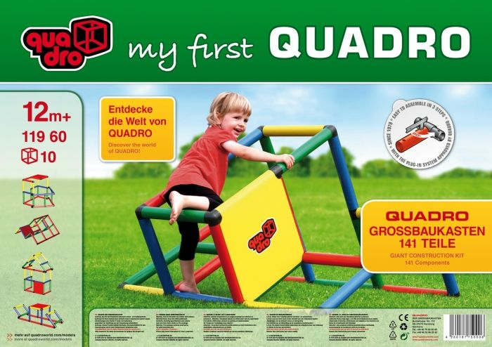 Indoor Activity Play Centre by Quadro. My First Quadro, the indoor activity play centre for children aged 1+. With 6 year guarantee.