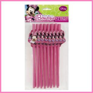 Minnie Mouse Party Straws, $1.89 Cdn pkg/24.