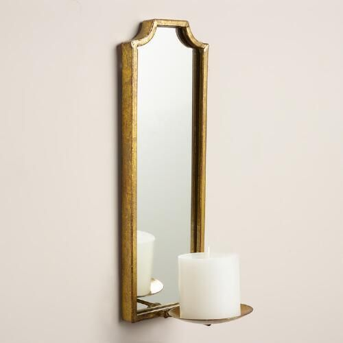 One of my favorite discoveries at WorldMarket.com: Antique Gold Rectangular Emma Sconce