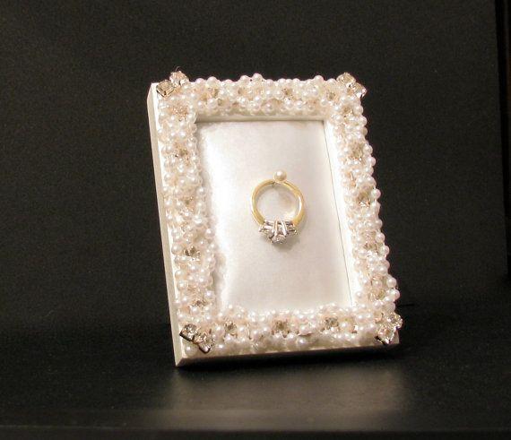 best wedding ring holder frame for holding engagement ring unique bridal gift for women - Wedding Ring Holder