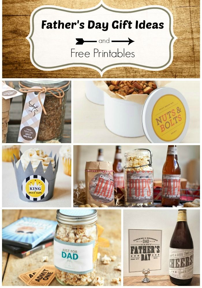 Fathers Day Gift Ideas and Free Printables