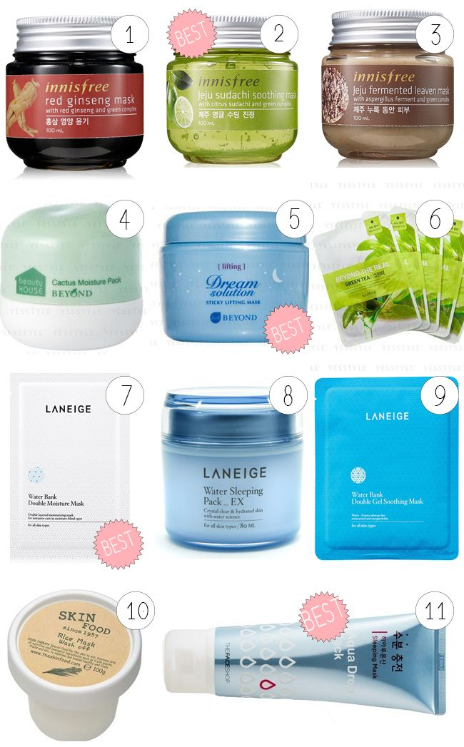 the best korean products for dry / sensitive skins
