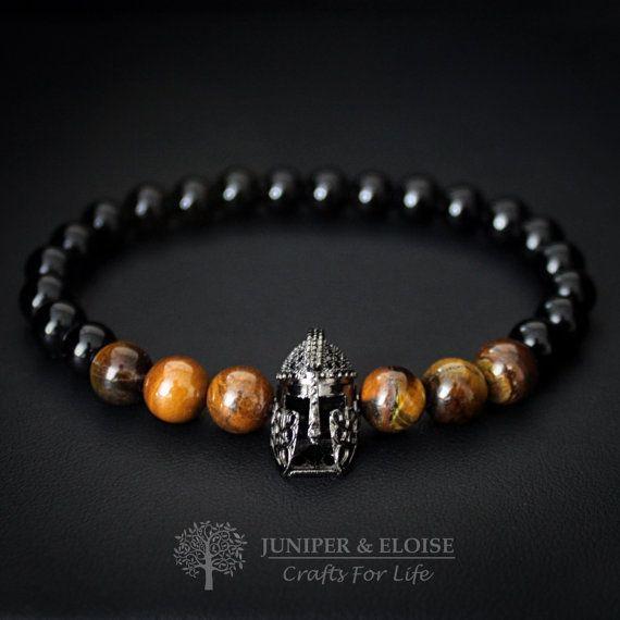 d66c0d4dfef8 Pulsera de casco Spartan, pulsera de los hombres, pulsera de ...