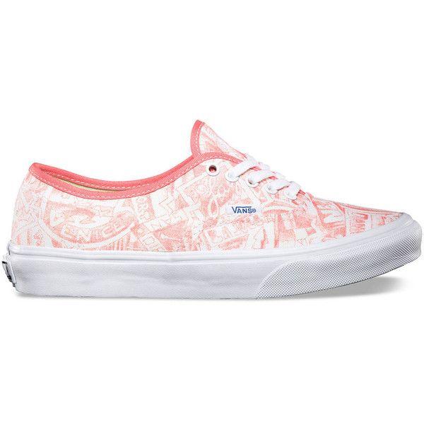Vans Van Doren Authentic Slim Womens Shoes ($50) ❤ liked on Polyvore featuring shoes, sneakers, vans, zapatos, vans trainers, 80s shoes, vans shoes, 80s sneakers and slim shoes
