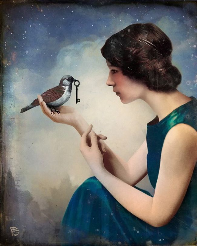 made by: Christian Schloe - (Bird holding key)
