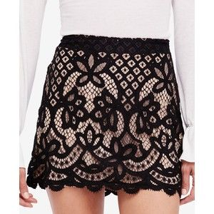 Free People Dreamy Days Lace Mini Skirt
