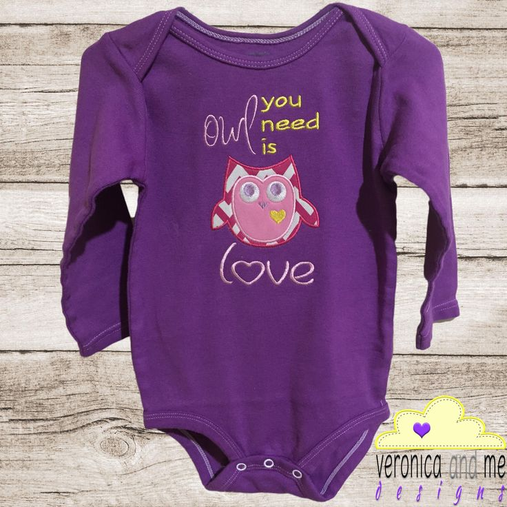 """Sometimes """"owl you need is love"""" and a little cute owl appliqué design to make you smile.  Create something unique for yourself and one for someone else and share the love!"""