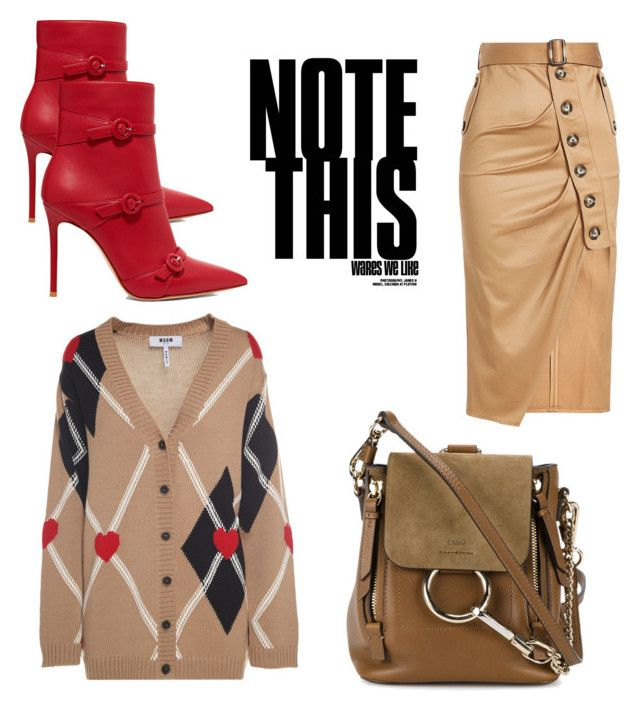 """""""Fall for cocoa"""" by nashwynter on Polyvore featuring self-portrait, Gianvito Rossi, MSGM and Chloé"""