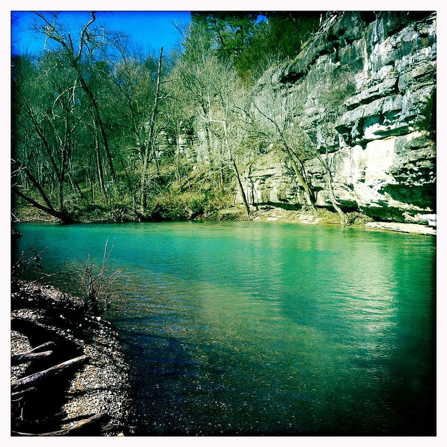 Beautiful, clear and natural.  The Buffalo River - America's first National River!