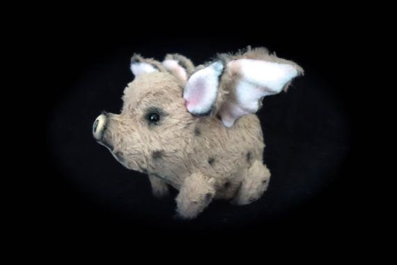 Lies & Lot Bears handgemaakte miniatuur Mohair Vliegend door BJDDoll