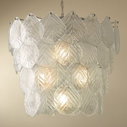Global Views Murano Leaf Chandelier - LOW STOCK , ORDER NOW