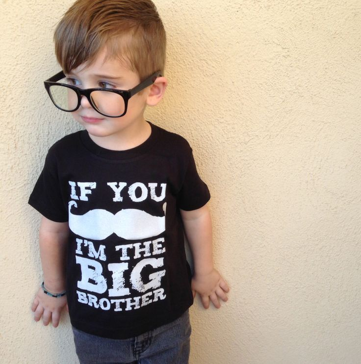 Big Brother Shirt  Boys Mustache Shirt  If by VicariousClothing, $16.0