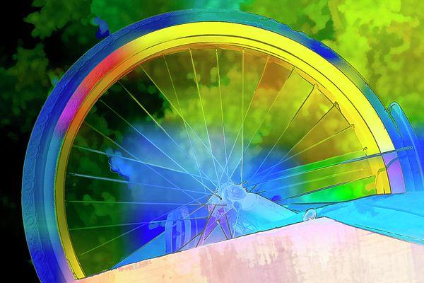 Rainbow Wheel by Terry Davis #wheel #rainbow #bike