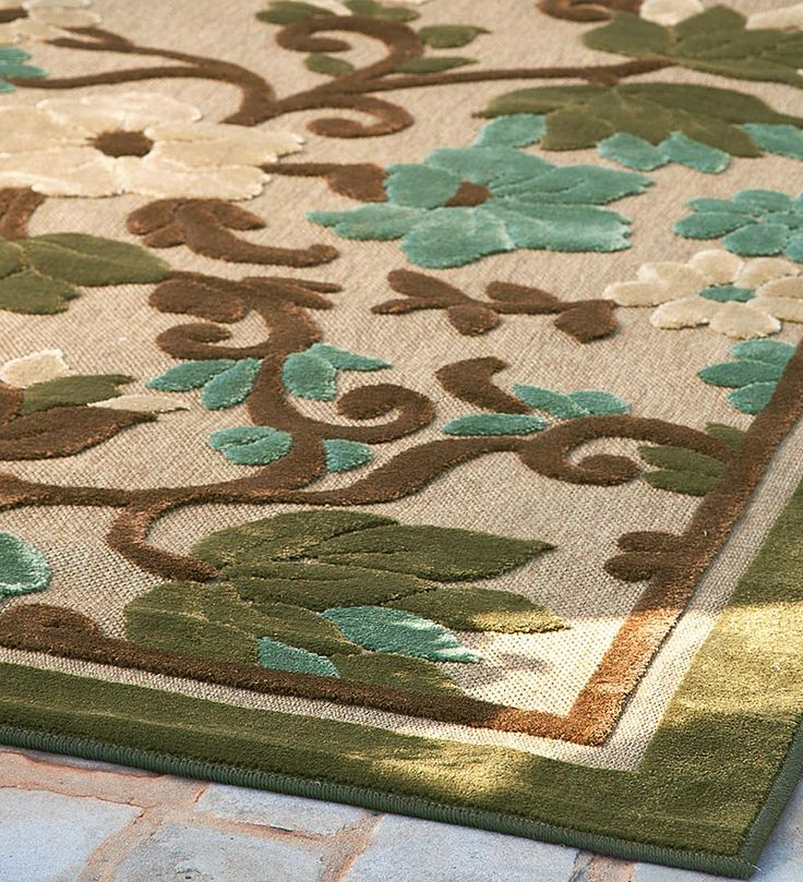 Indoor/Outdoor All Weather Olefin Tropical Garden Area Rug. I Desperately  Need A