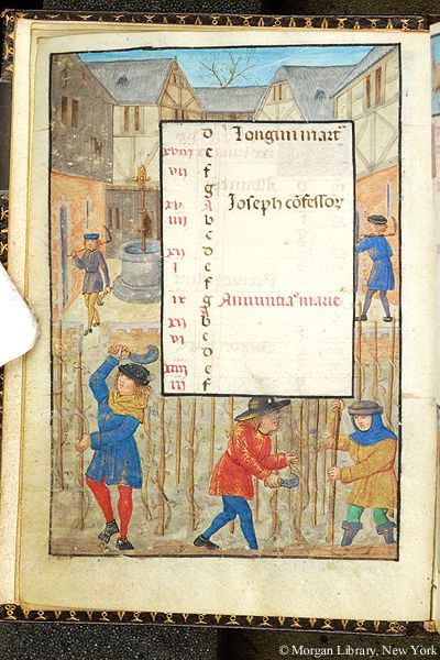 Book of Hours, MS S.7 fol. 3v - Images from Medieval and Renaissance Manuscripts - The Morgan Library & Museum