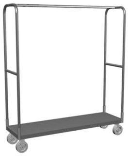 Lockwood Single Bar Steel Rolling Rack - contemporary - clothes racks - by Hayneedle