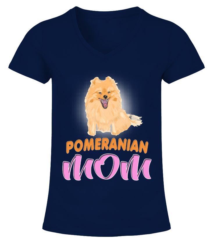 Pedigreed Dog German Toy Pomeranian Mom  Funny Pomeranian T-shirt, Best Pomeranian T-shirt