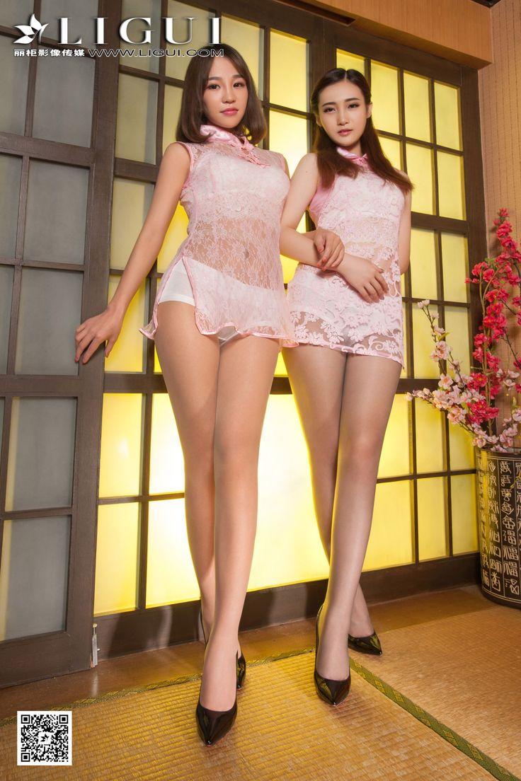 [Ligui丽柜] ALAN&诺言 - 蕾丝旗袍丝足美腿套图_第1页/第3张图