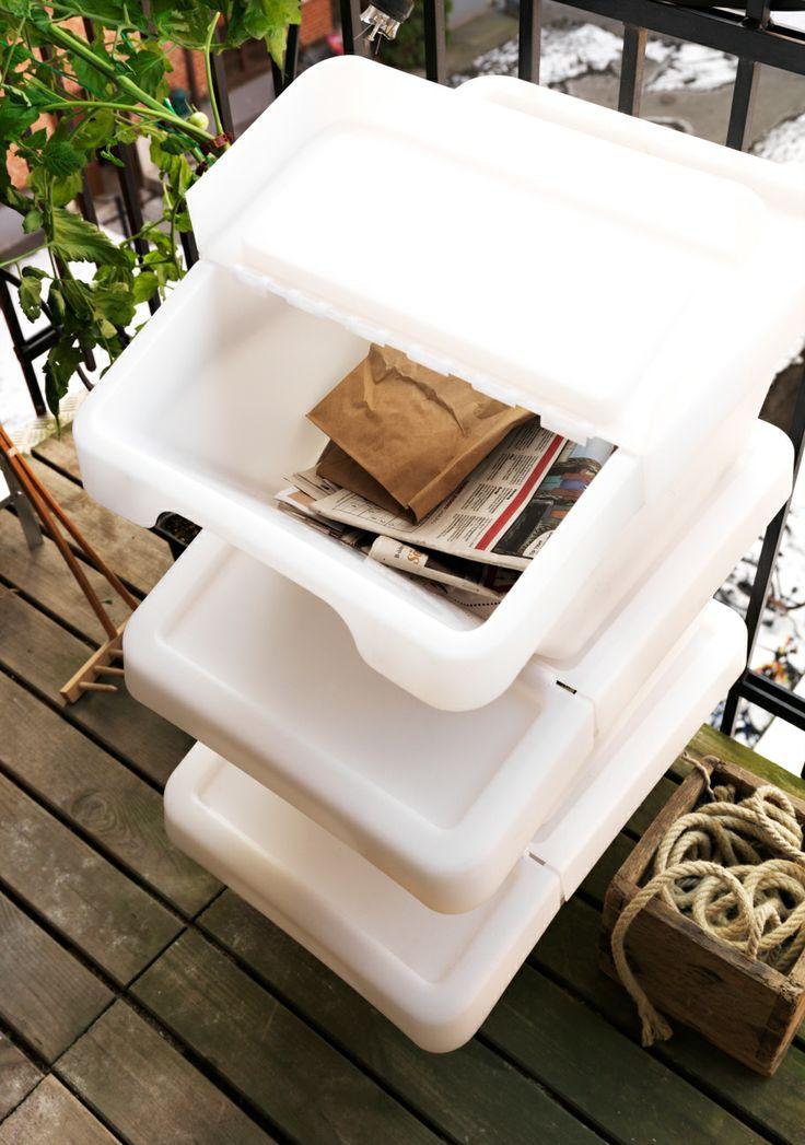 Recyclen wordt extra makkelijk met deze SORTERA afvalbakken. #IKEA