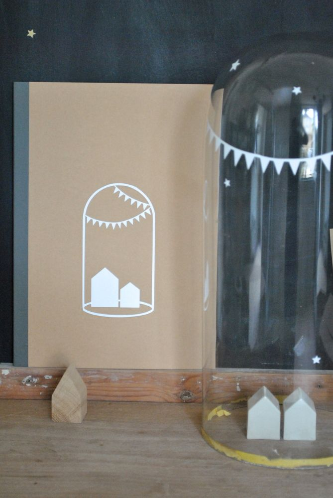 cahier kraft + globe maisons fanions simplyfactory.bigcartel.com