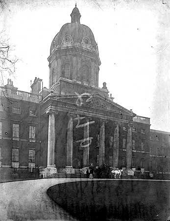 Bethlehem Hospital (Bedlam), Southwark, London. I went to school opposite here. Hmm maybe that's my problem