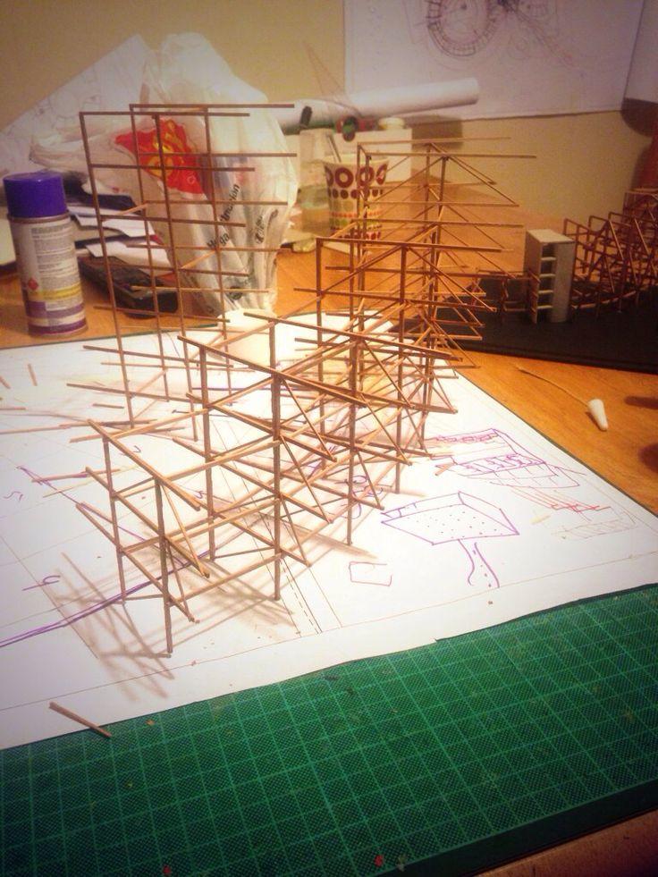Estructura de palitos.
